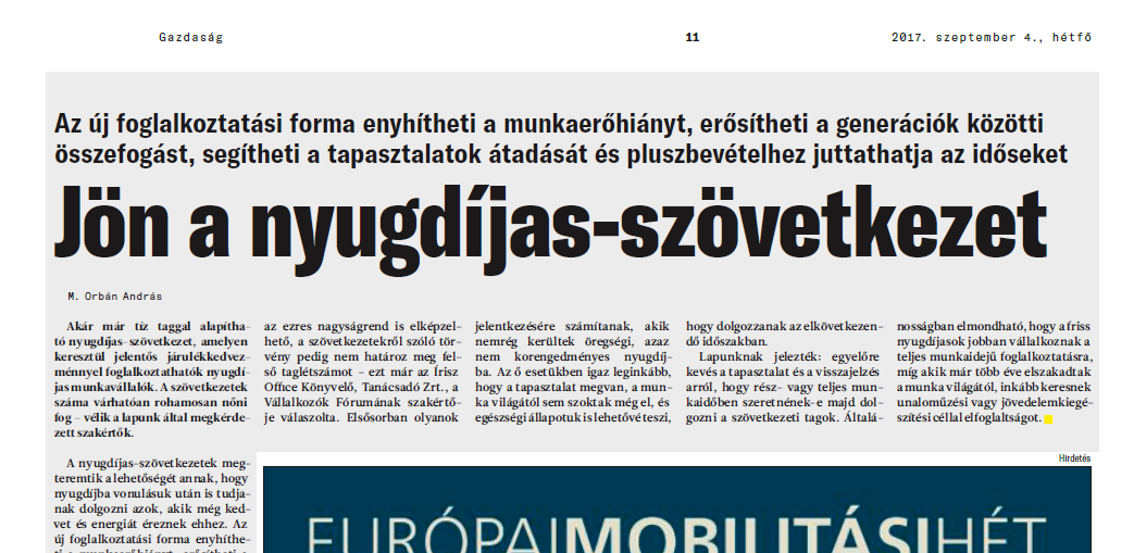 Magya Hírlap cikk