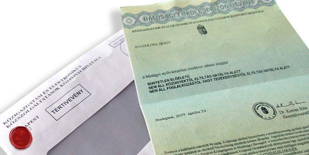 Szigorodtak az erkölcsi bizonyítvány bekérésének szabályai Írisz Office adótervezés