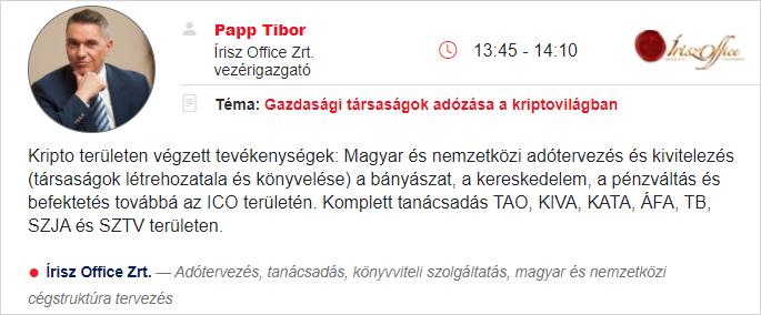 Kriptopénz konferencia 2021